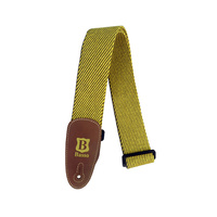 Basso Guitar Strap - Cotton Yellow Tweed EX04