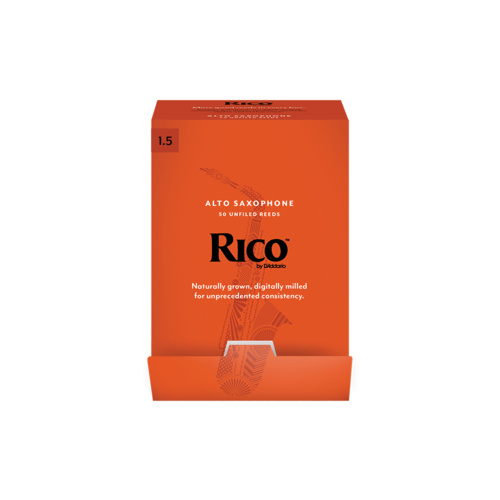 Rico by D'Addario Alto Saxophone Reeds, Strength 1.5, 50-pack